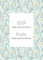 Teal Flowers Baby Shower by Cathy Nordstrom