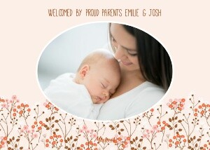Autumn Floral Baby Announcement by Cathy Nordstrom