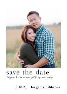 Simple Classic Save the Date