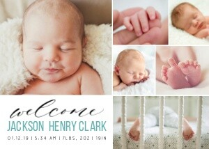 Welcome Baby Collage