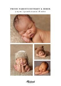 Foil Pressed Florals Baby Announcement