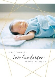 Geometric Lines Baby Announcement