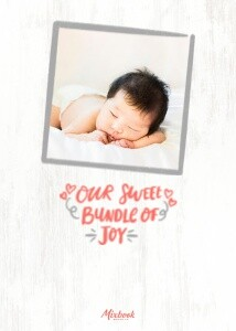 Sweet Typography Baby Announcement