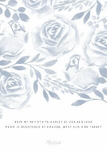 Watercolor Rose Bridal Shower