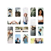 Mosaic Style Photo Book White
