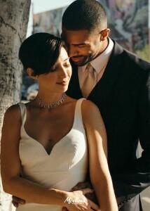 Asymmetrical Wedding Announcement
