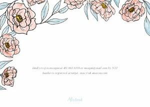 Soft Florals Baby Shower Invitation