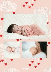 Cloud Hearts Baby Announcement by The Tiny Garden