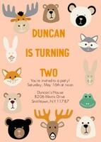 Woodland Animal Birthday by The Tiny Garden