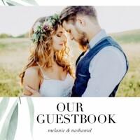 Watercolor Greenery Wedding Guest Book
