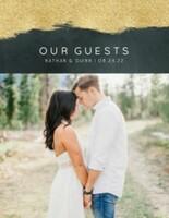 Modern Geometric Wedding Guest Book