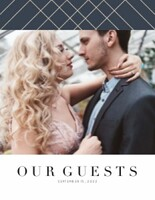 Classic Glamorous Wedding Guest Book