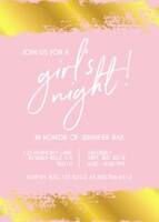 Girls Night Out Invitation by Yellow Heart Art