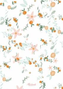 Orange Blossom Bridal Shower by Yellow Heart Art
