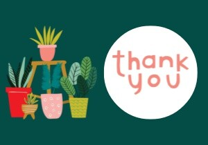 Plant Thank You by Black Lamb Studio