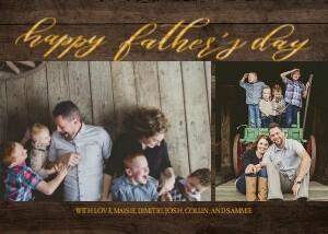 Full Photo Father's Day Script