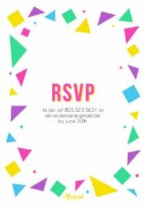 80's Pool Party Invitation