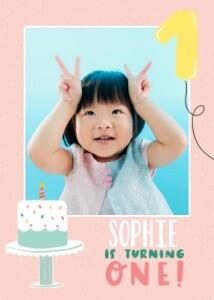 Girl's First Birthday by Black Lamb Studio
