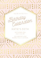 Geometric Blush Foil Birthday Card by Yellow Heart Art