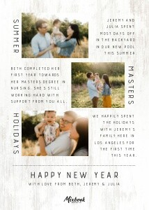 Rustic What a Year Card