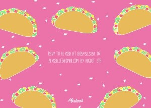 Taco Party Invitation by Pennie Post