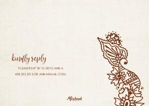 Diwali Invitation Henna