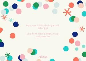 Holiday Confetti Frame by Oh Joy!